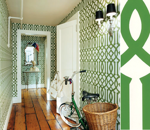 Wallpaper Imperial Trellis by Kelly Wearstler THE STYLE FILES 500x435