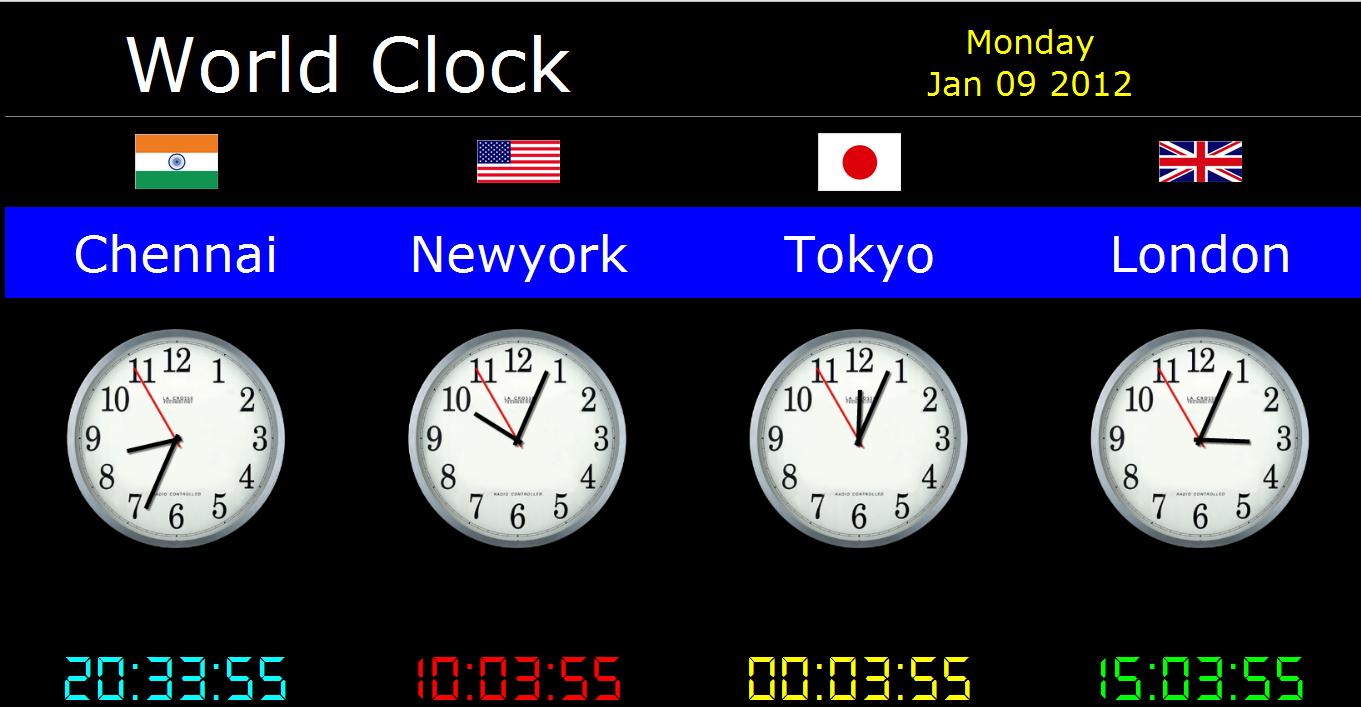 World Clock Desktop Wa...