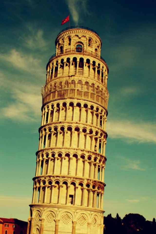 Leaning Tower of Pisa iPhone Wallpaper HD 640x960