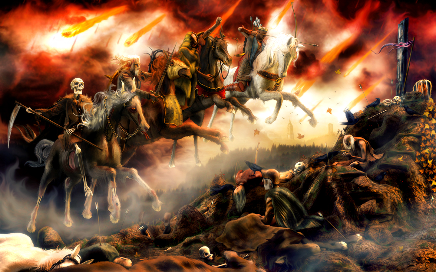 Picture the Four Horsemen Sapient Chronicles 1440x900