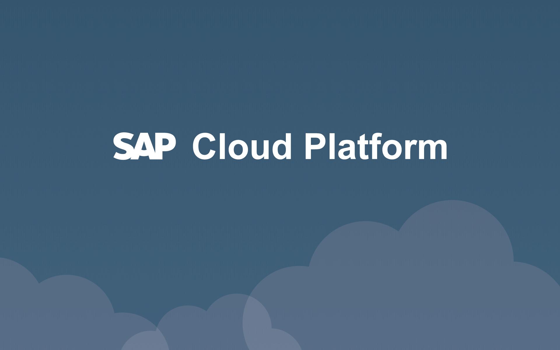 SAP Cloud Platform   PartnerEdge member   Mansystems BV 1920x1200