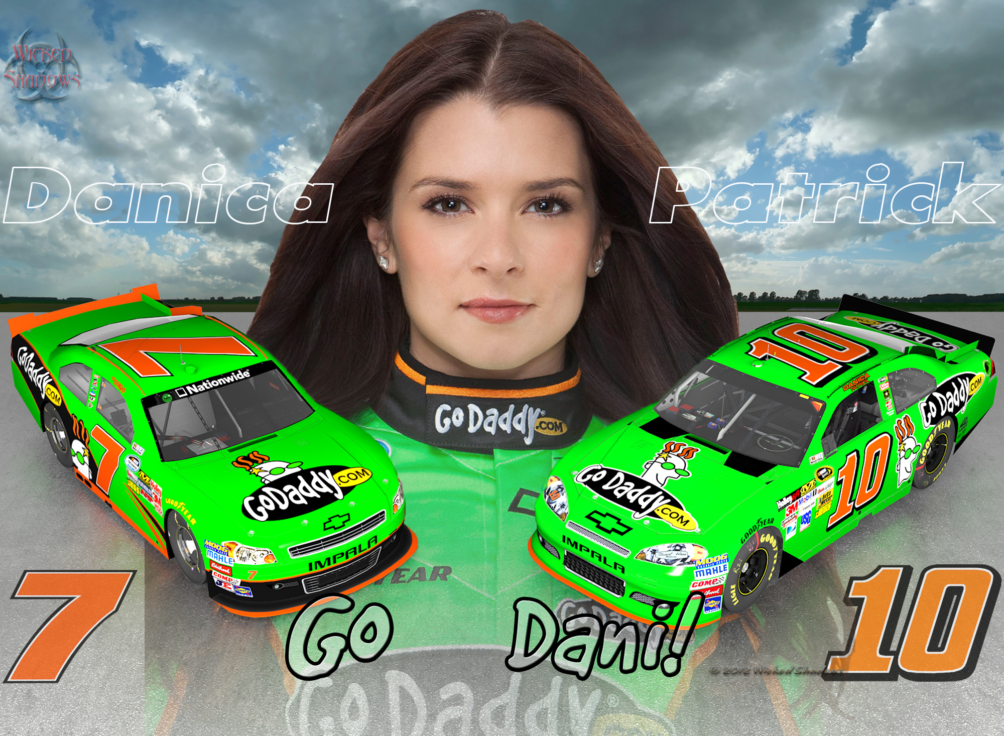 Danica Patrick Go Dani 2012 Wallpaper Download Wallpaper 2000x1466