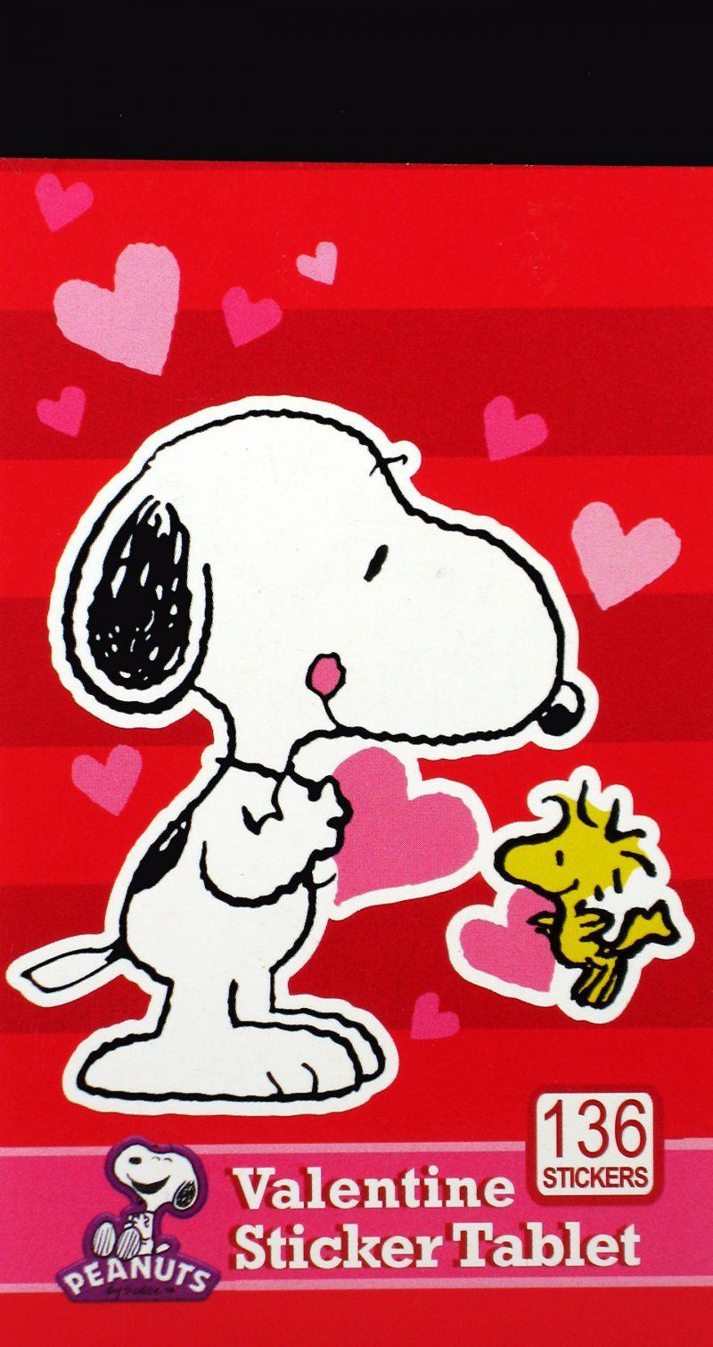 Snoopy Mini Valentine Sticker Tablet Snoopn4pnutscom 800x1510