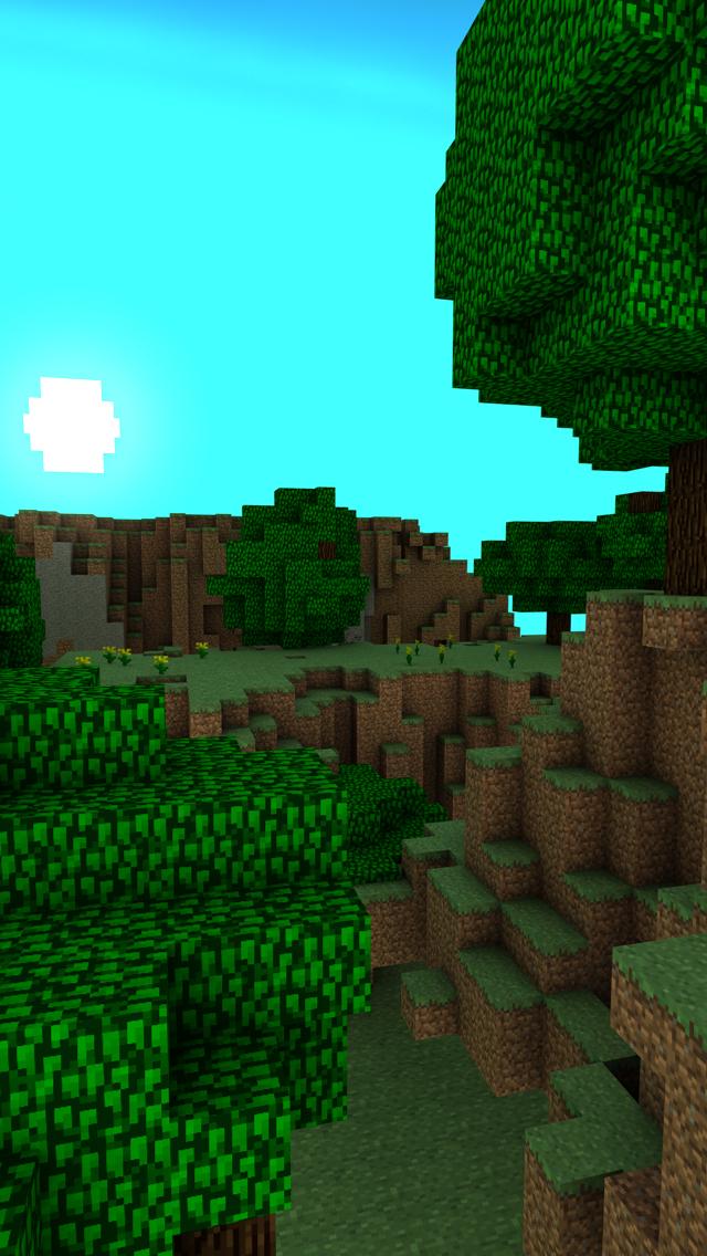 Minecraft Landscape SS iPhone 5 Wallpaper 640x1136 640x1136
