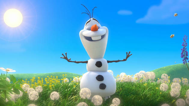 Olaf Frozen Wallpaper Olaf Frozen In Summer Happy Snowman 629x354