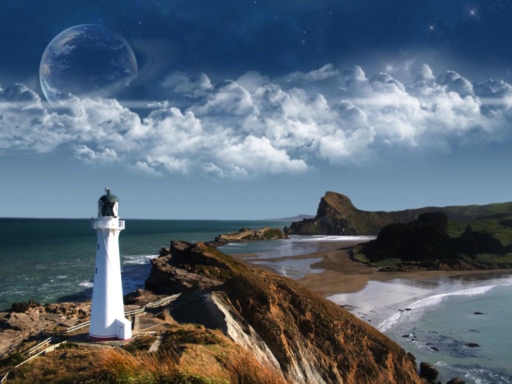 1024x768 Lighthouse desktop PC and Mac wallpaper 1024x768