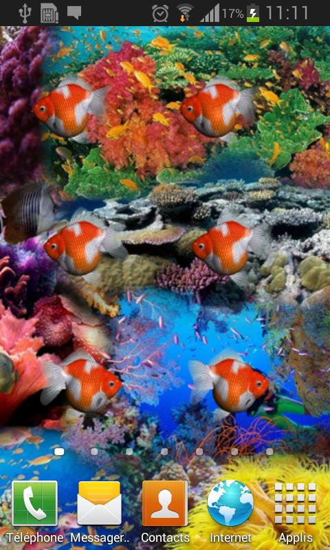 Aquarium 3D Live wallpaper   screenshot 480x800