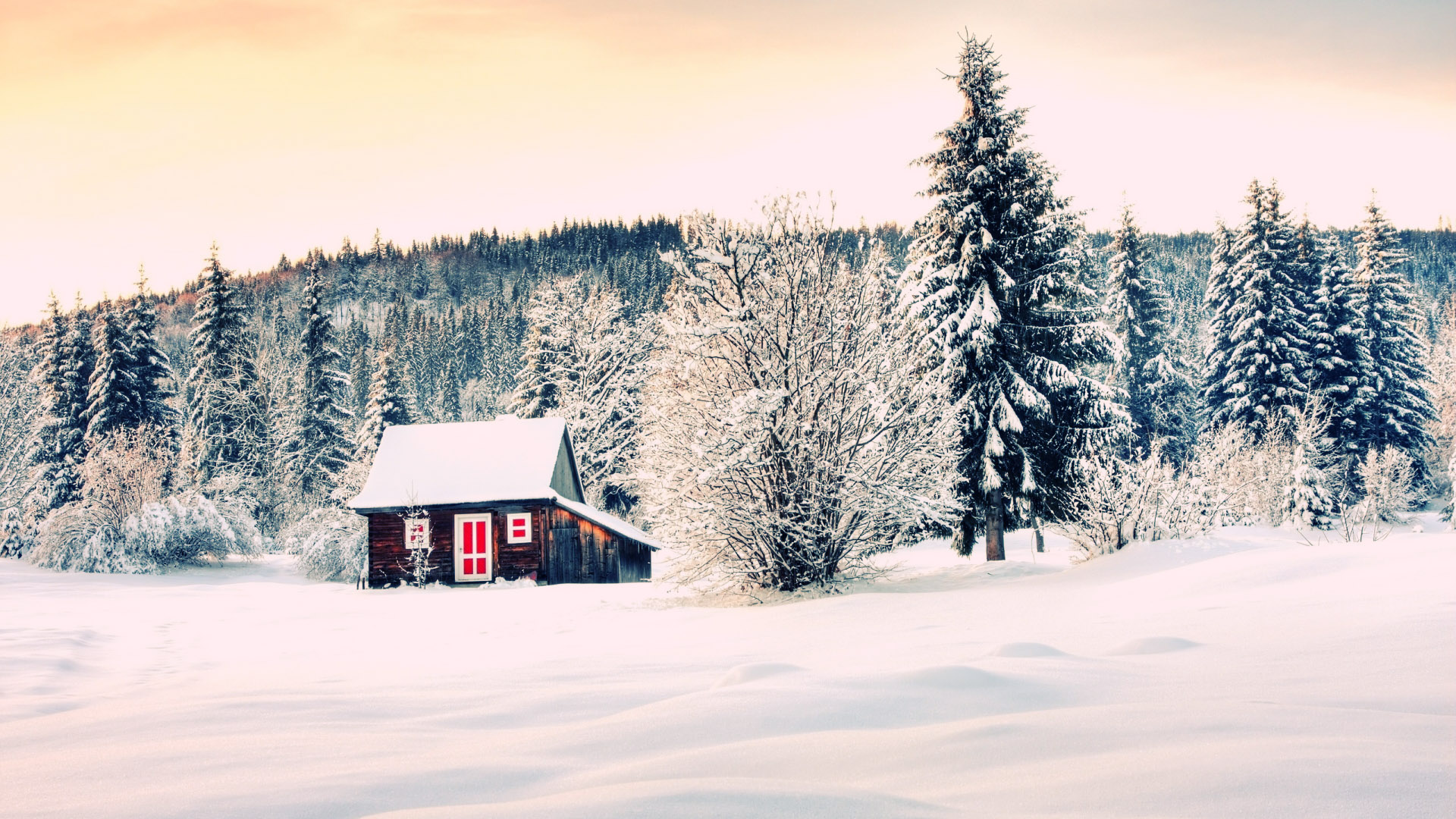 The Winter House Mac Apple Wallpaper Trip Mac Background Nature 1920x1080