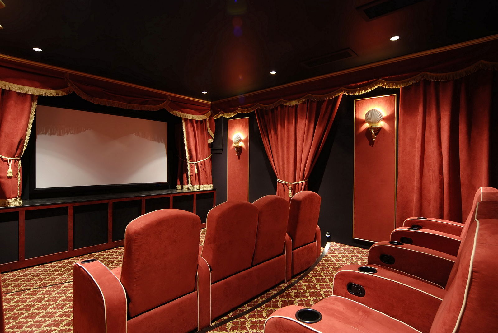 home theater or home theatre is a theater built in a home designed 1600x1071