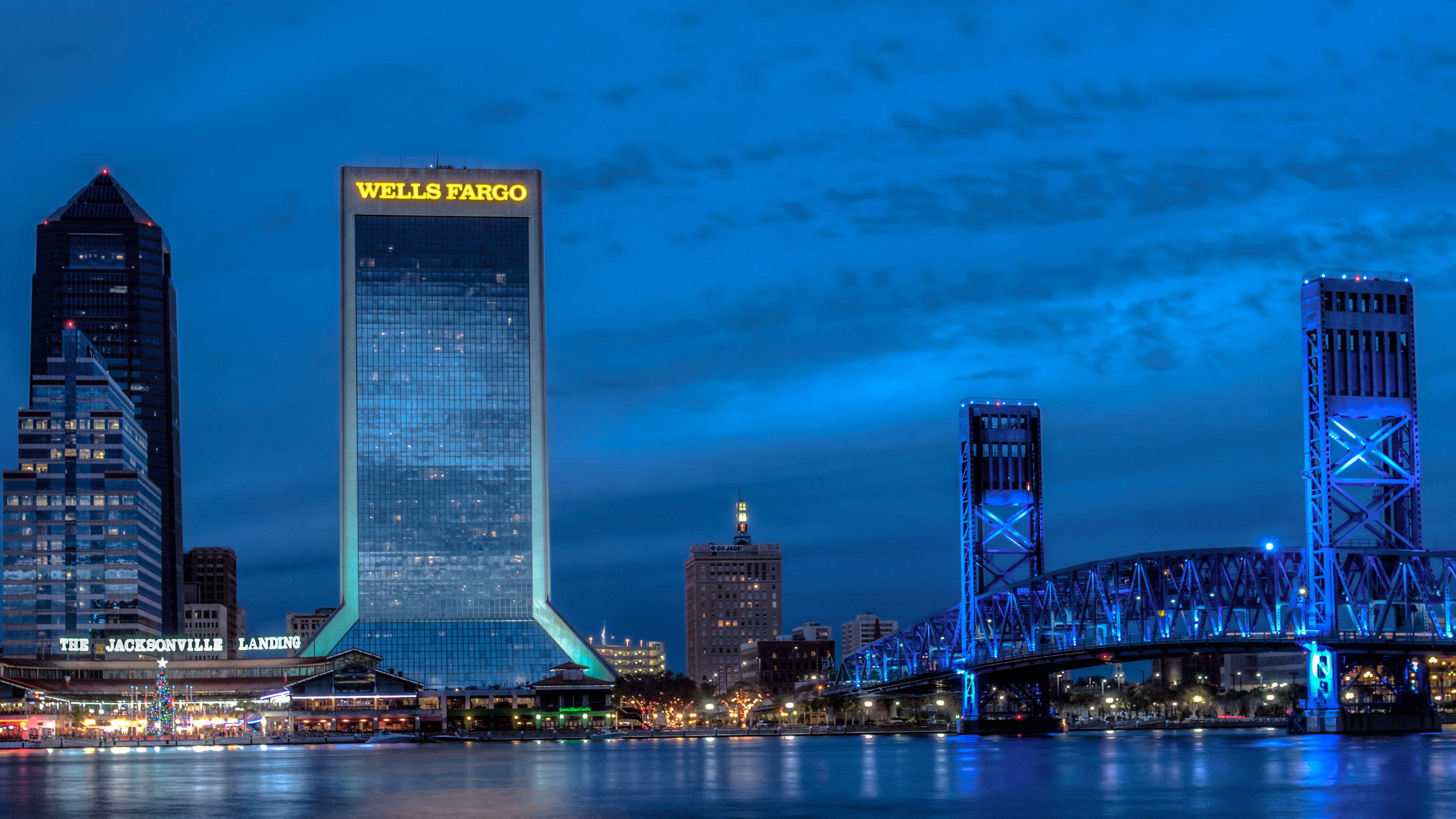 Jacksonville Wallpaper Florida USA sky skyline building 4179x2351