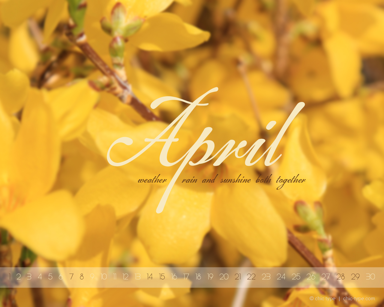 April Wallpapers The Chic Type Blog 1280x1024