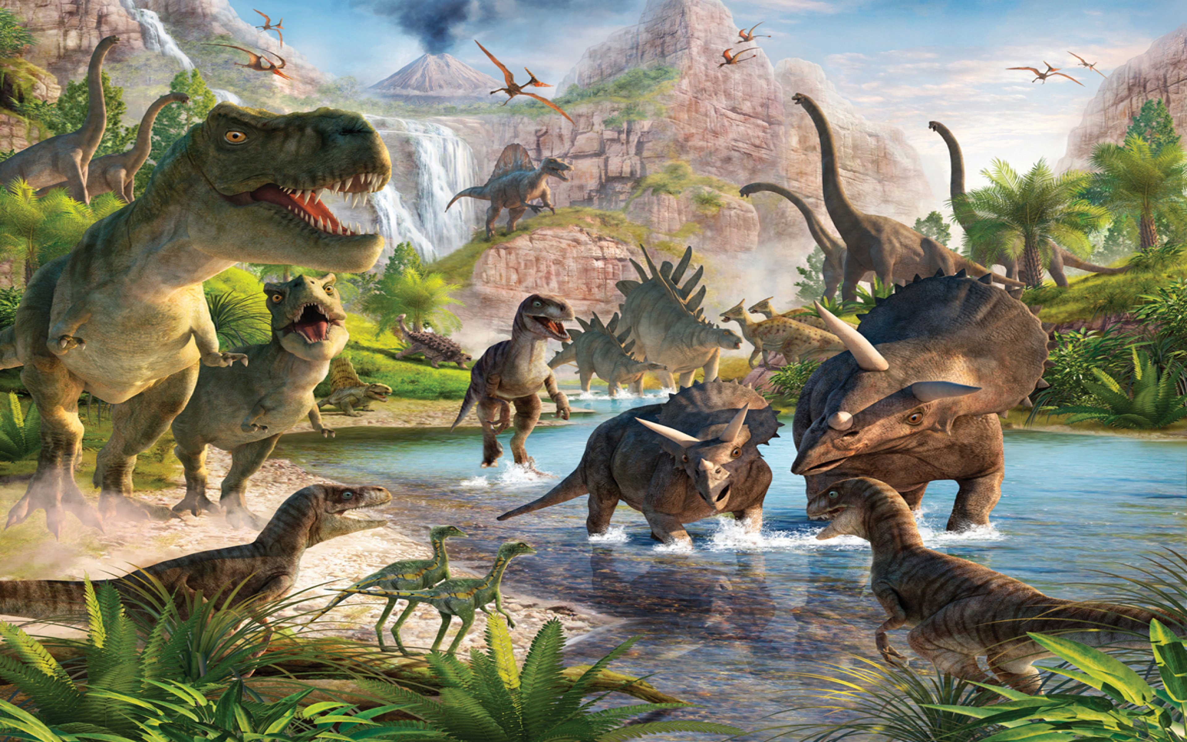 Dinosaurs Wallpapers For Desktop 11686 Full Hd Wallpaper 3840x2400