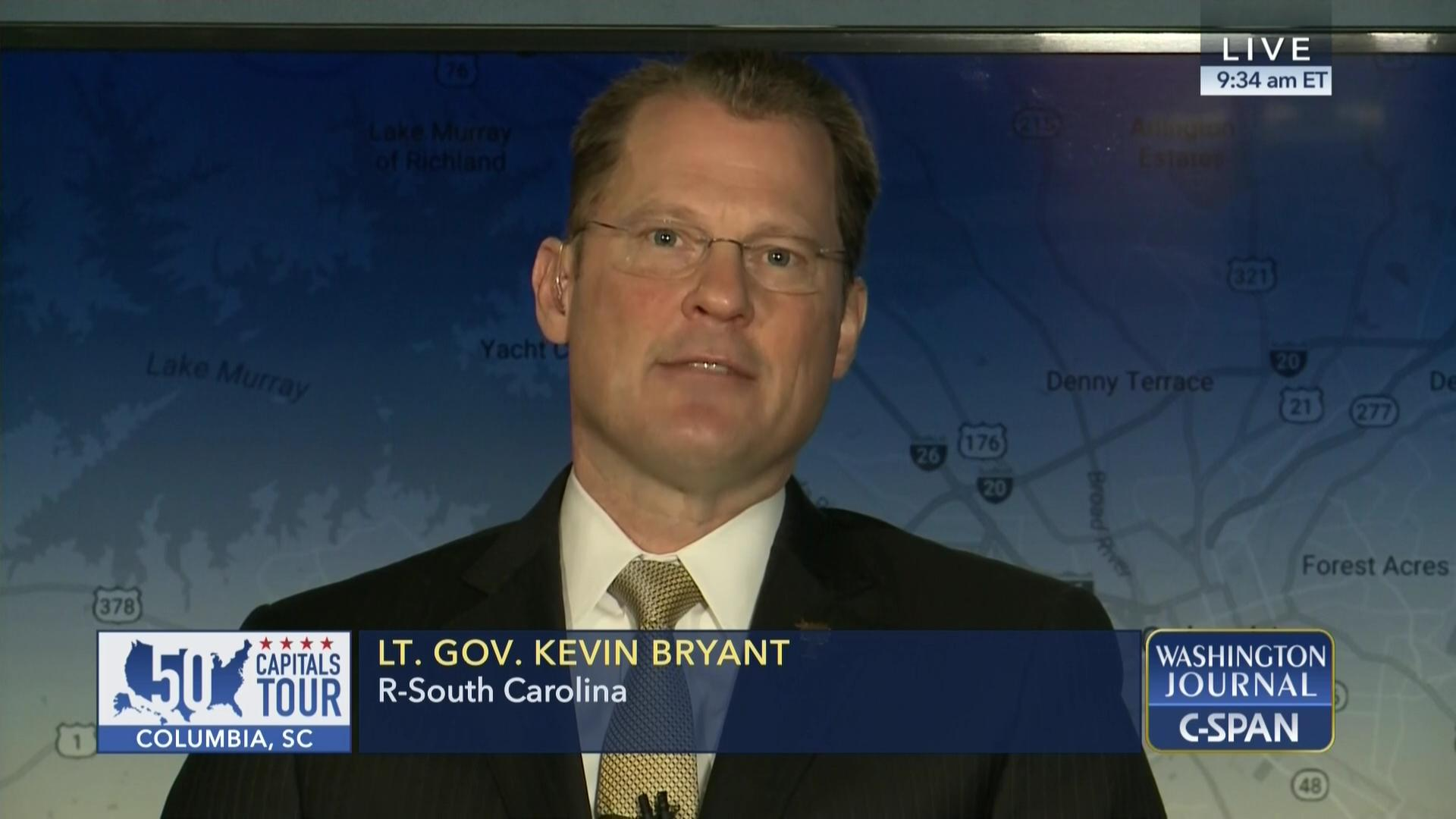 Lieutenant Governor Kevin Bryant on Key Issues in South Carolina 1920x1080