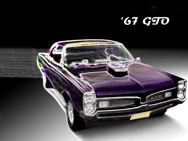 1967 Pontiac Gto Wallpaper 1967 1969 Black car Cars chrome 620x465