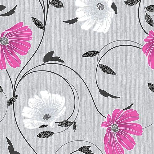 Grey glitter wallpaper wallpapersafari for Pink and grey wallpaper