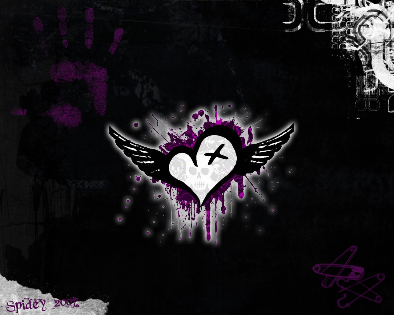 Emo Love Wallpapers Facebook 1280x1024