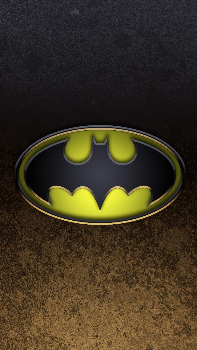 Batman Logo 2 iPhone 5 Wallpaper 640x1136 640x1136