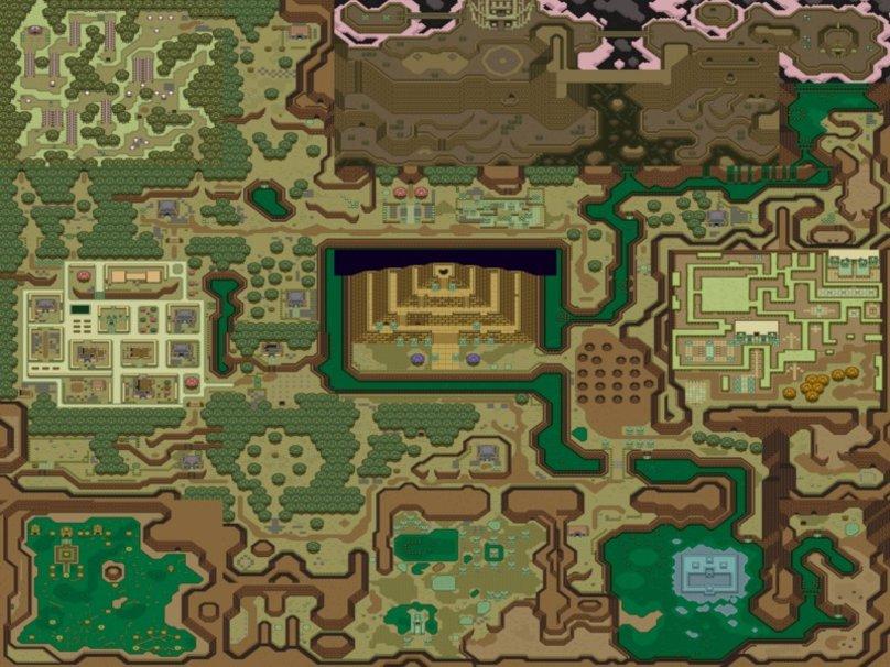 Legend of Zelda map   A Link to the Past Wallpaper Wallpaper 808x606