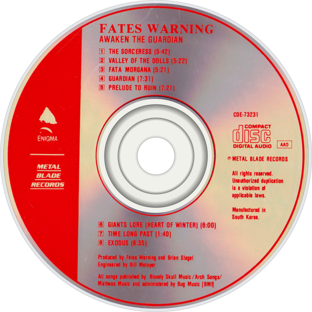 Free Download Fates Warning Awaken The Guardian Cd Disc Image 1000x1000 For Your Desktop Mobile Tablet Explore 50 Fates Warning Wallpaper Fates Warning Wallpaper Warning Wallpaper Warning Signs Wallpaper