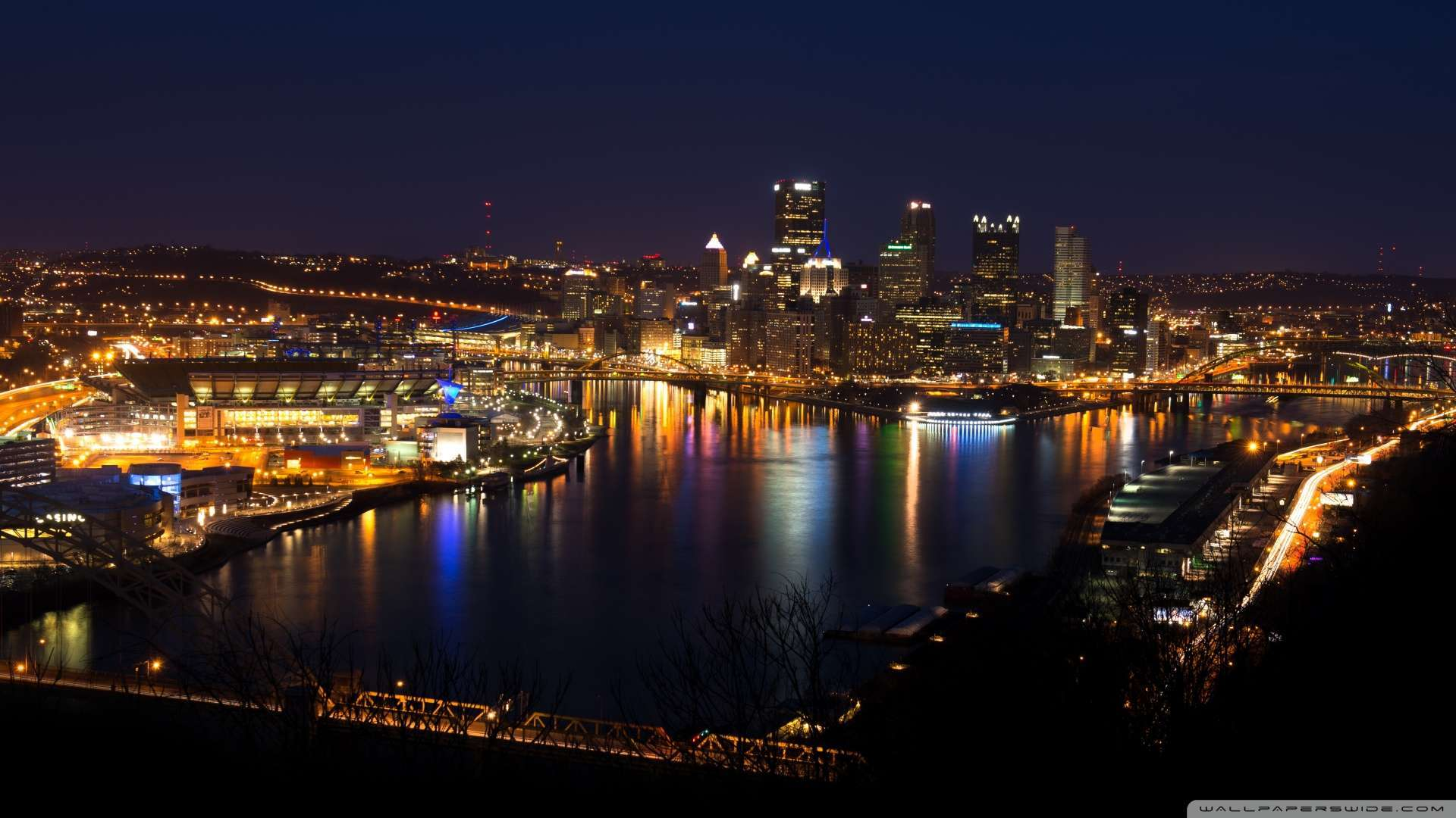 Wallpaper Pittsburgh Skyline Wallpaper 1080p HD Upload at January 4 1920x1080