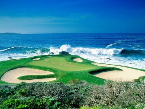Ocean Golf Course Screensaver Screensavers   Download Ocean Golf 500x375