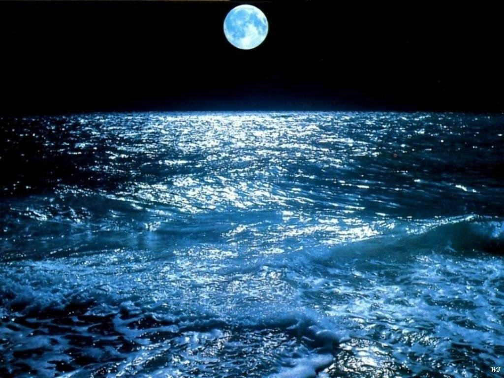 Landscapes Moon over Sea WallpaperSuggestcom wallpapers 1024x768