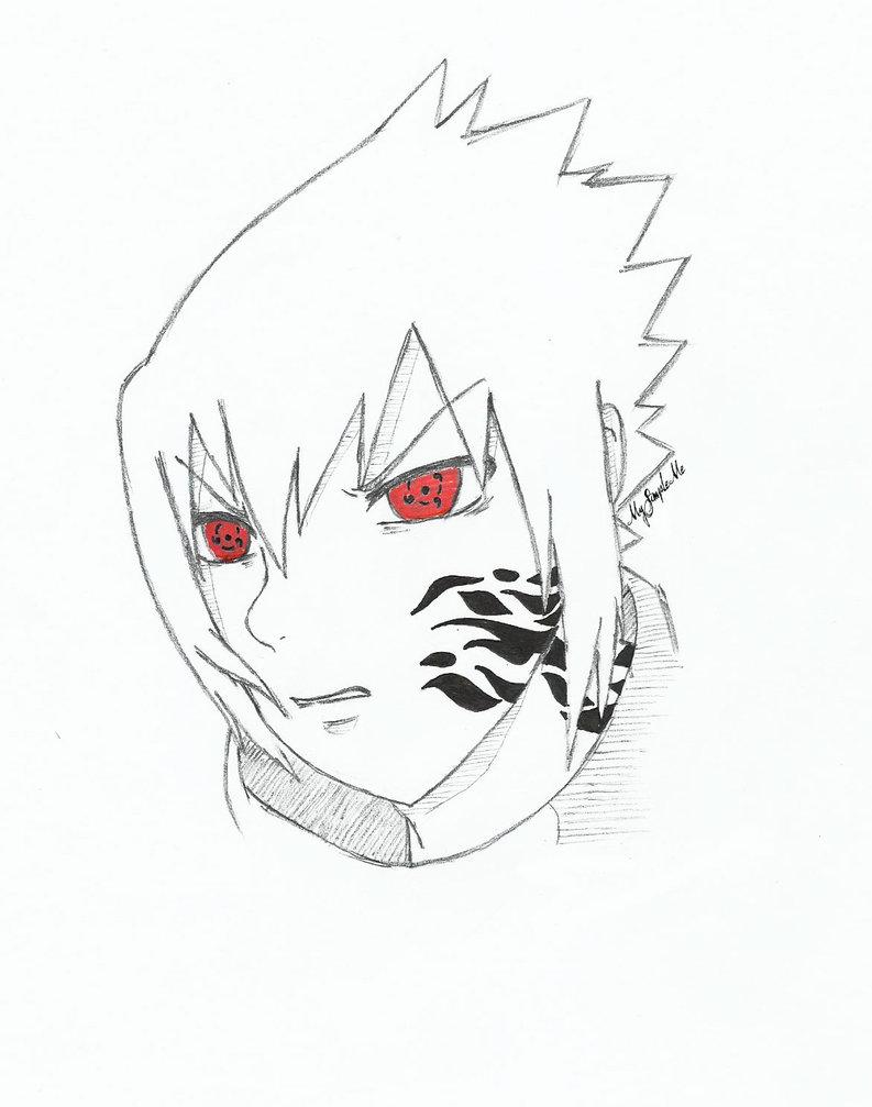 Sasuke Uchiha   The Curse Mark by mysimpleme14 793x1007