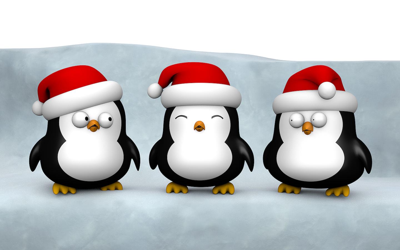 Moving Penguin Wallpapers - WallpaperSafari Cute Christmas Penguin Wallpaper