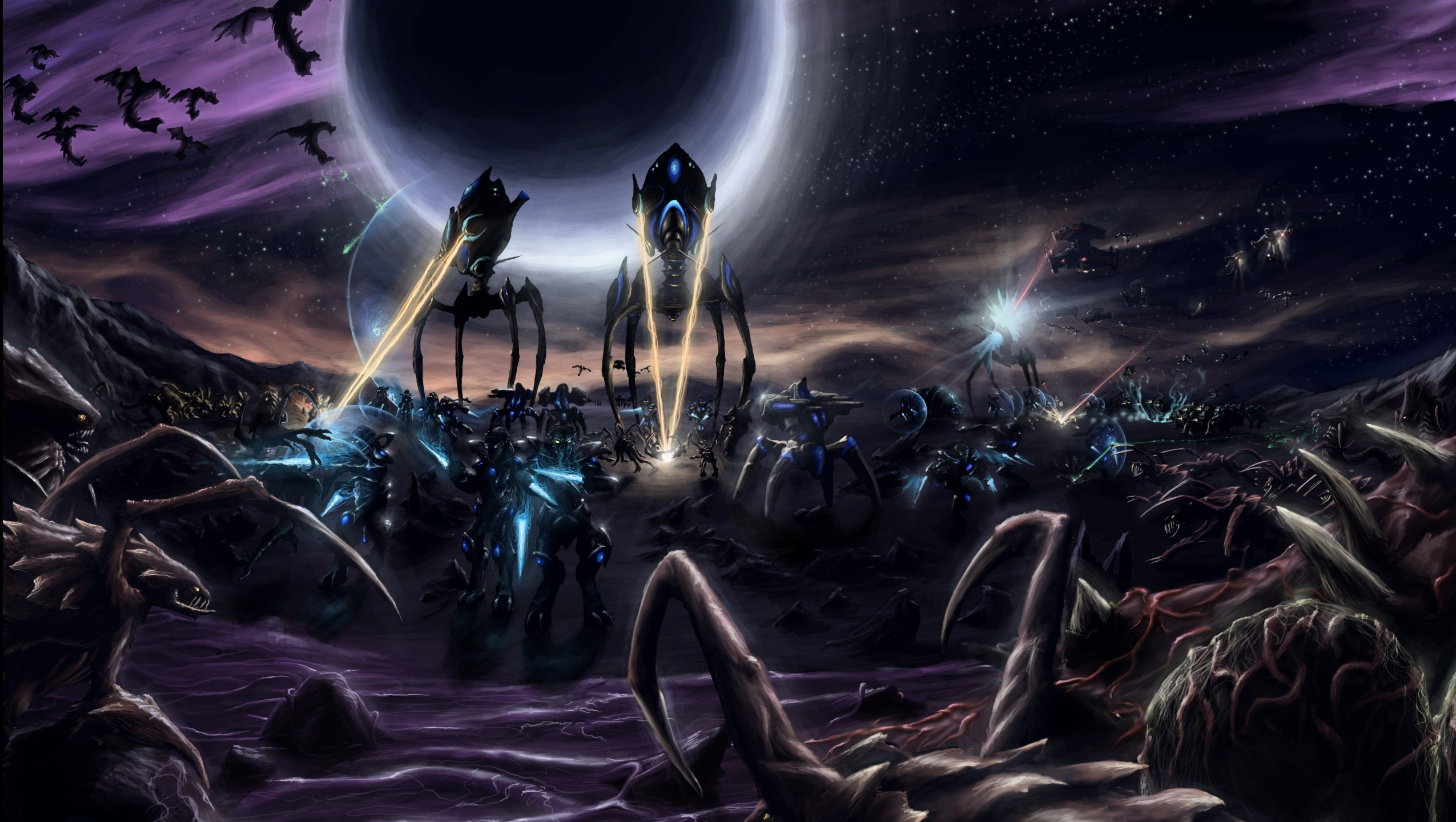 Video Games Wallpaper 2550x1440 Video Games StarCraft Zerg 2550x1440