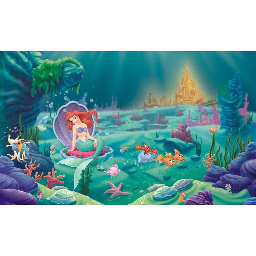 Mermaid Ariel Large Prepasted Wallpaper Mural Bedroom Play Room eBay 1000x1000