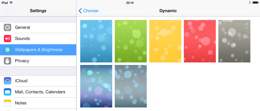 Dynamic wallpapers iOS 7 1024x439