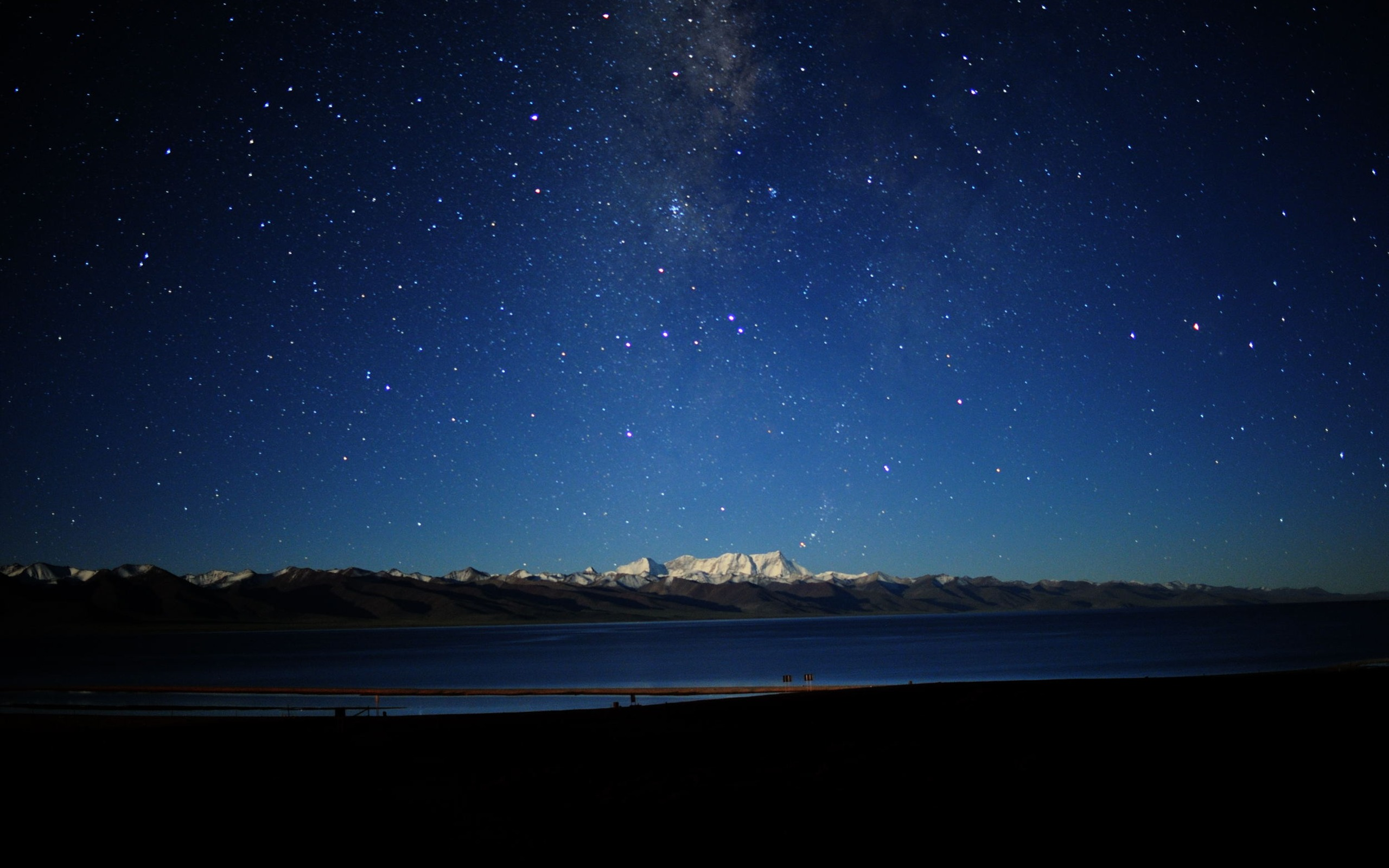 Night Sky Background   PowerPoint Backgrounds for 2560x1600