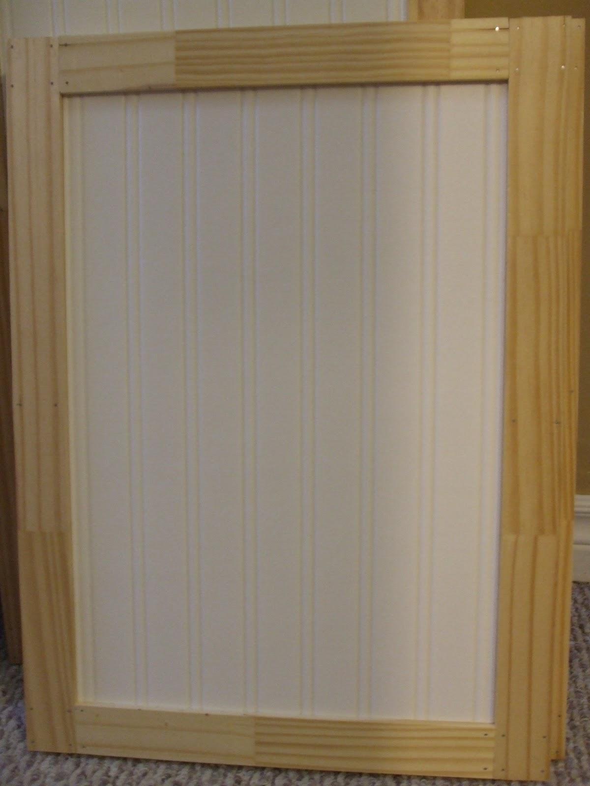 Beadboard wallpaper cabinets wallpapersafari - Wallpaper on kitchen cabinet doors ...