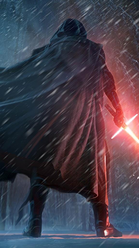 Star Wars The Force Awakens Wallpaper Kylo Ren Snow Scene 576x1024