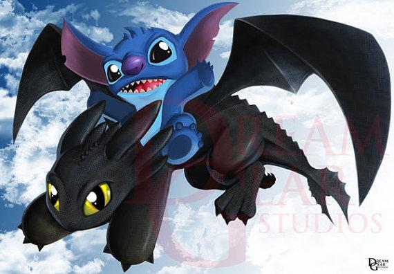 Stitch Toothless by JeffDelgado on Etsy 570x396