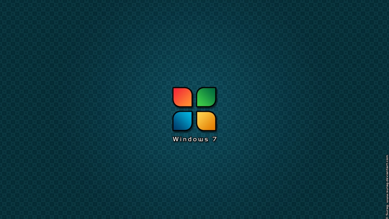 Free Download 1366x768 Logo Windows 7 Desktop Pc And Mac