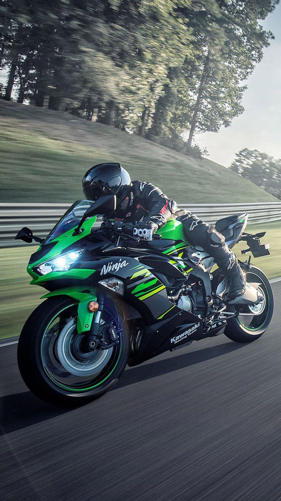 Download Kawasaki Ninja ZX 6R 2019 Green Black Pure 4K Ultra 950x1689