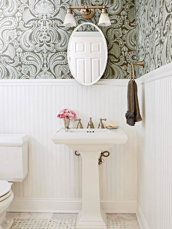 wainscoting and wallpaper ideas 2015 Grasscloth Wallpaper 550x733