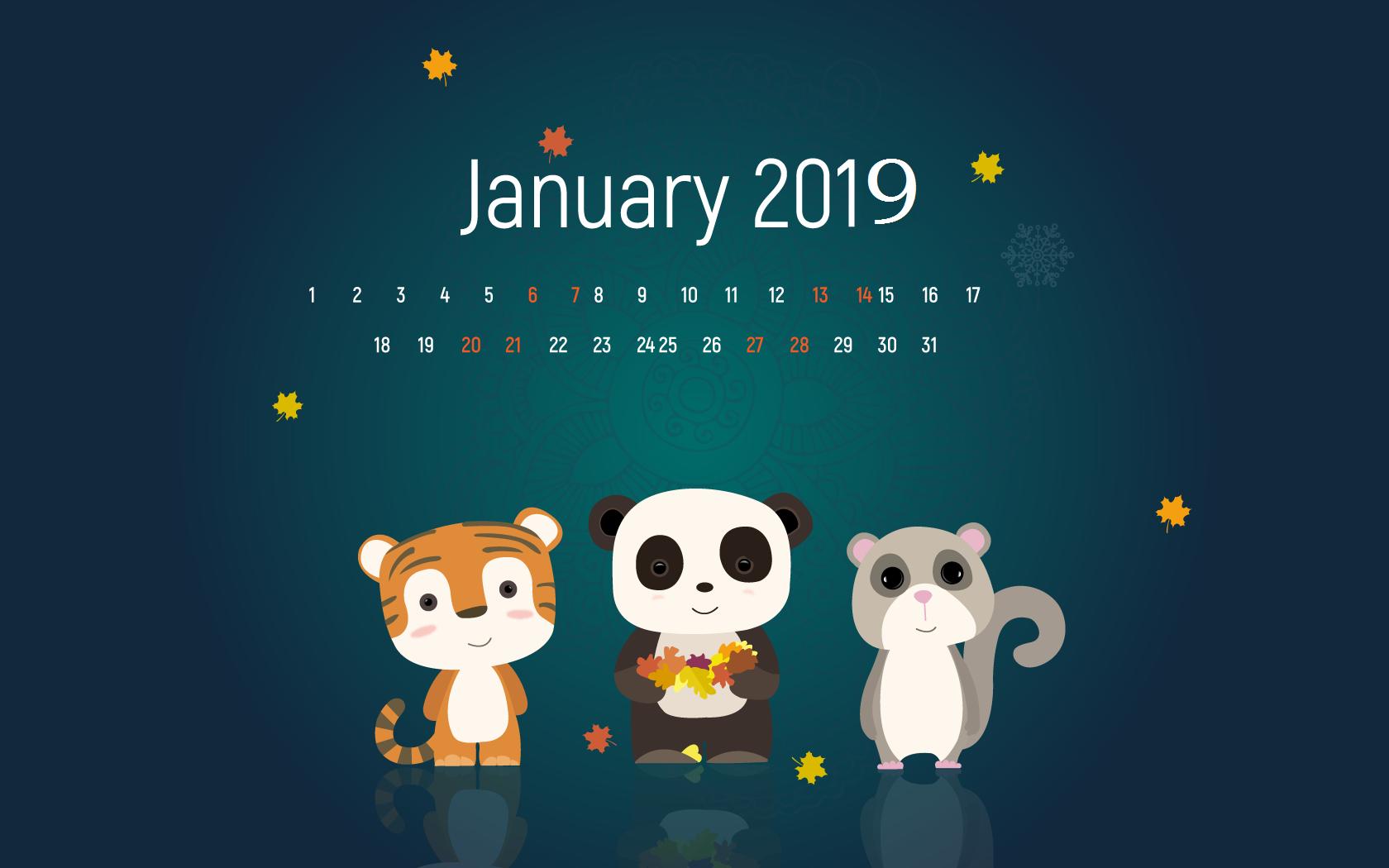 January 2019 HD Calendar Wallpapers Calendar 2019 1680x1050