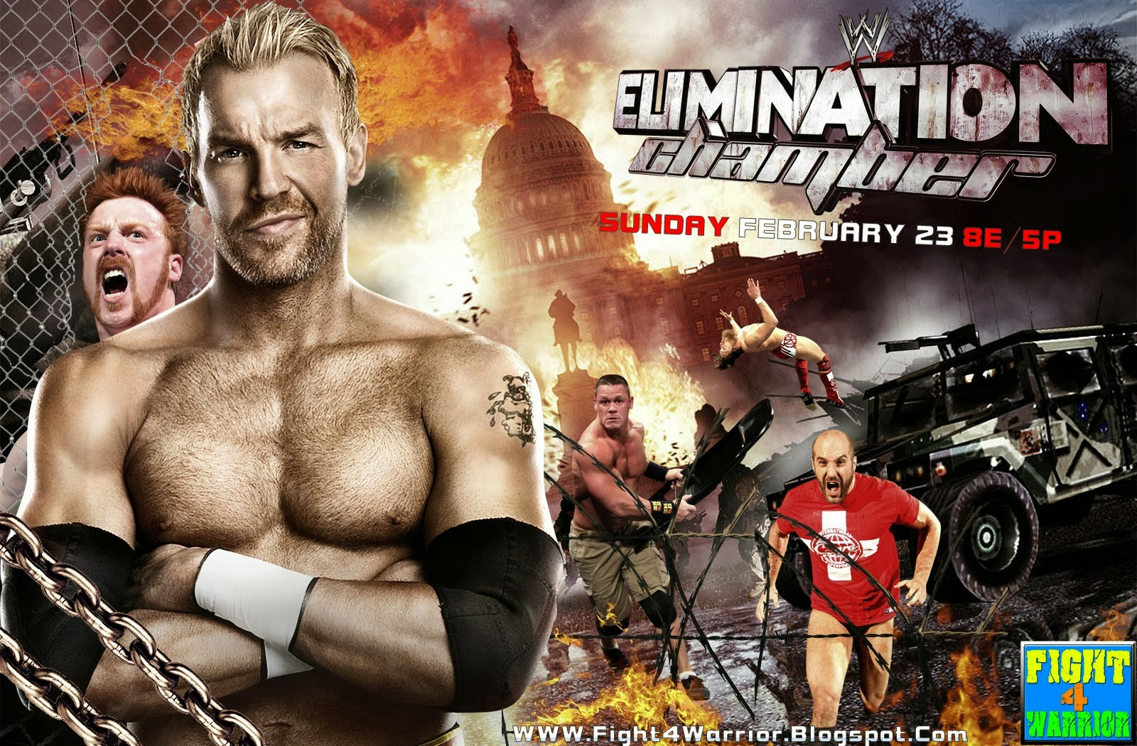 2014 Elimination Chamber 1600x1050