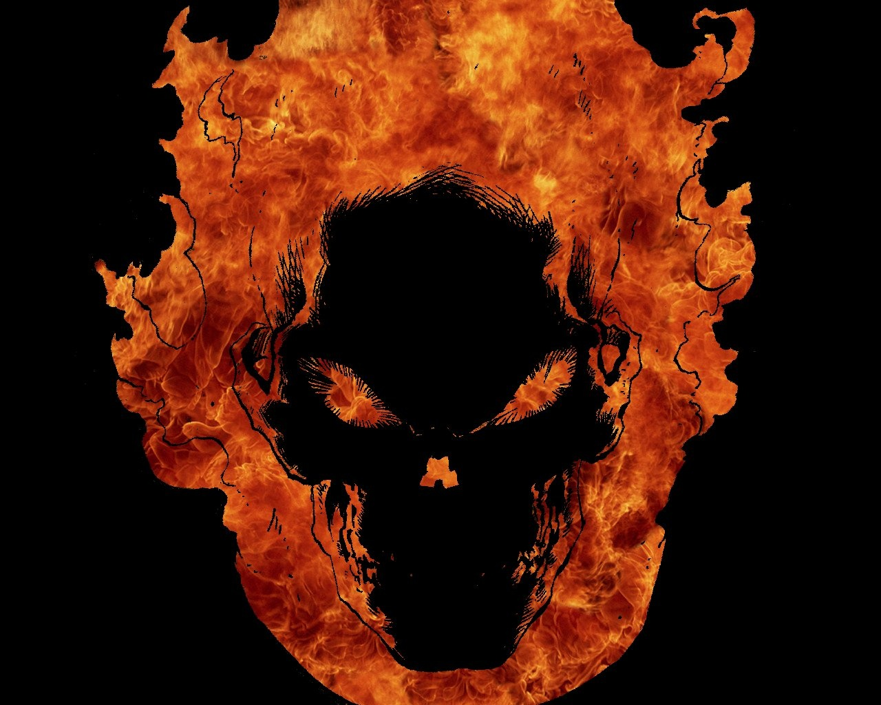 Android Phones Wallpapers Android Wallpaper Skull In Fire 1280x1024