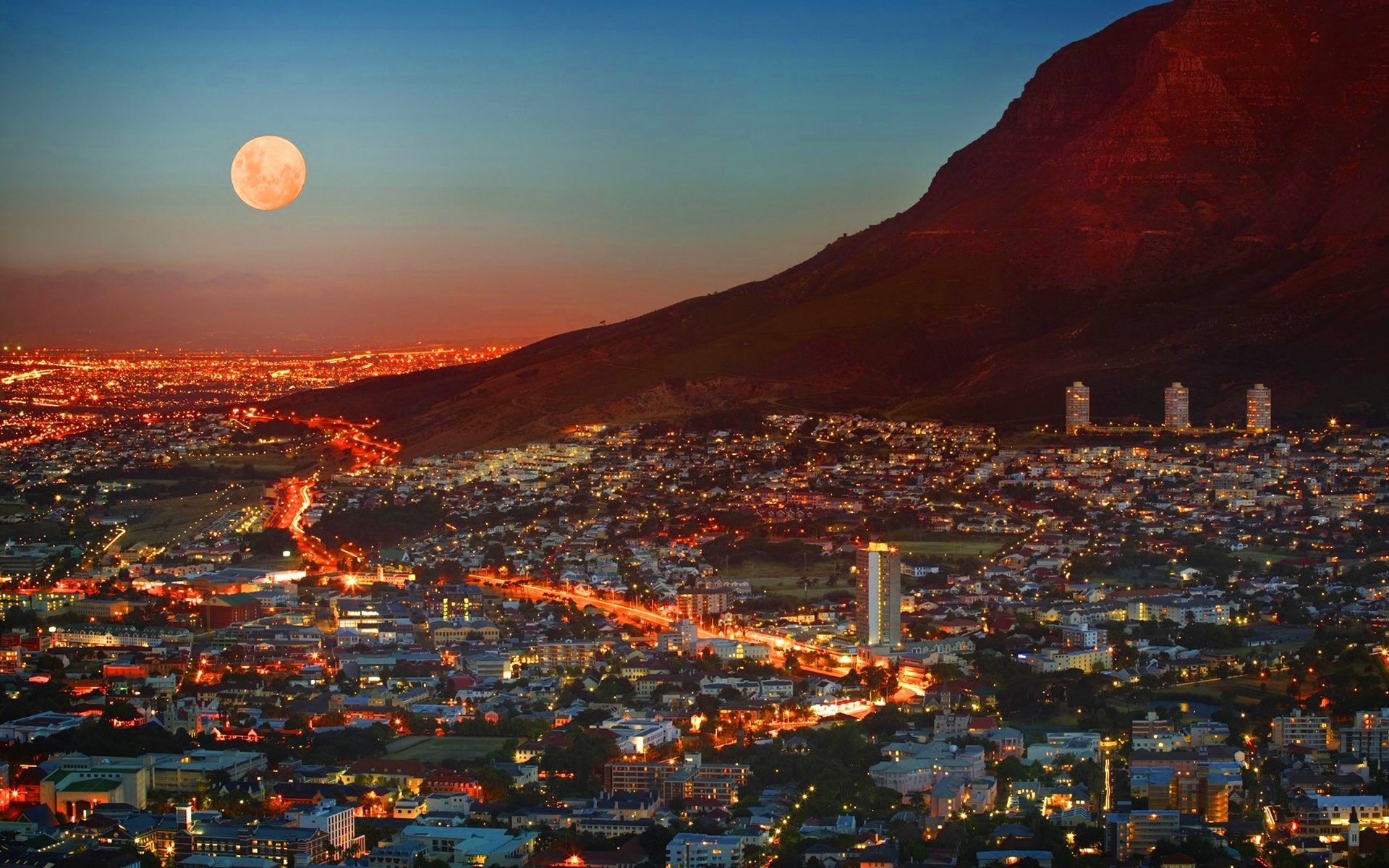 City Of Cape Town South Africa Wallpapers   1920x1200   858940 1920x1200