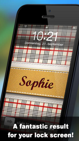 Pimp Your Name unique backgrounds with YOUR Name on the App Store 320x568