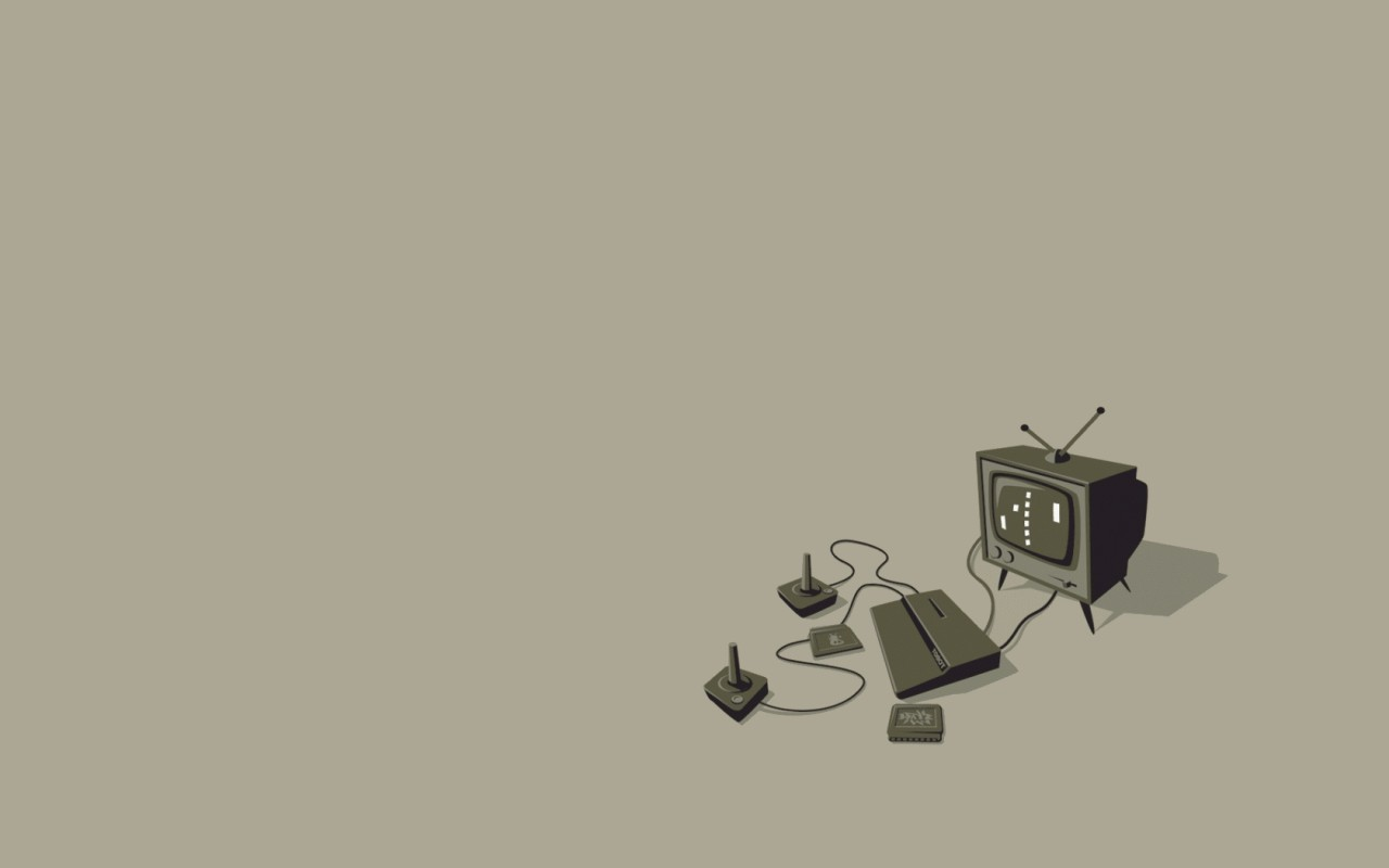 Drawn wallpapers Vector Wallpapers Video game console Minimalism 1280x800