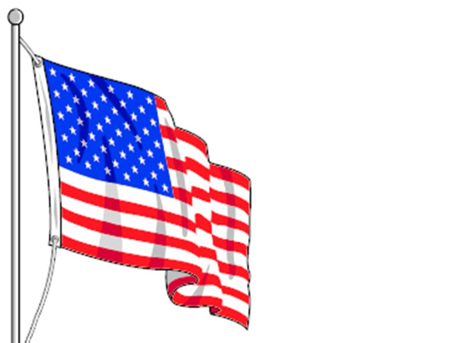 american flag template