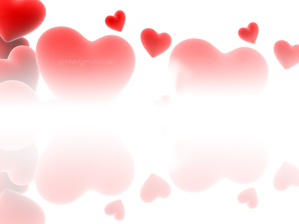 Red love hearts Backgrounds 1024x768