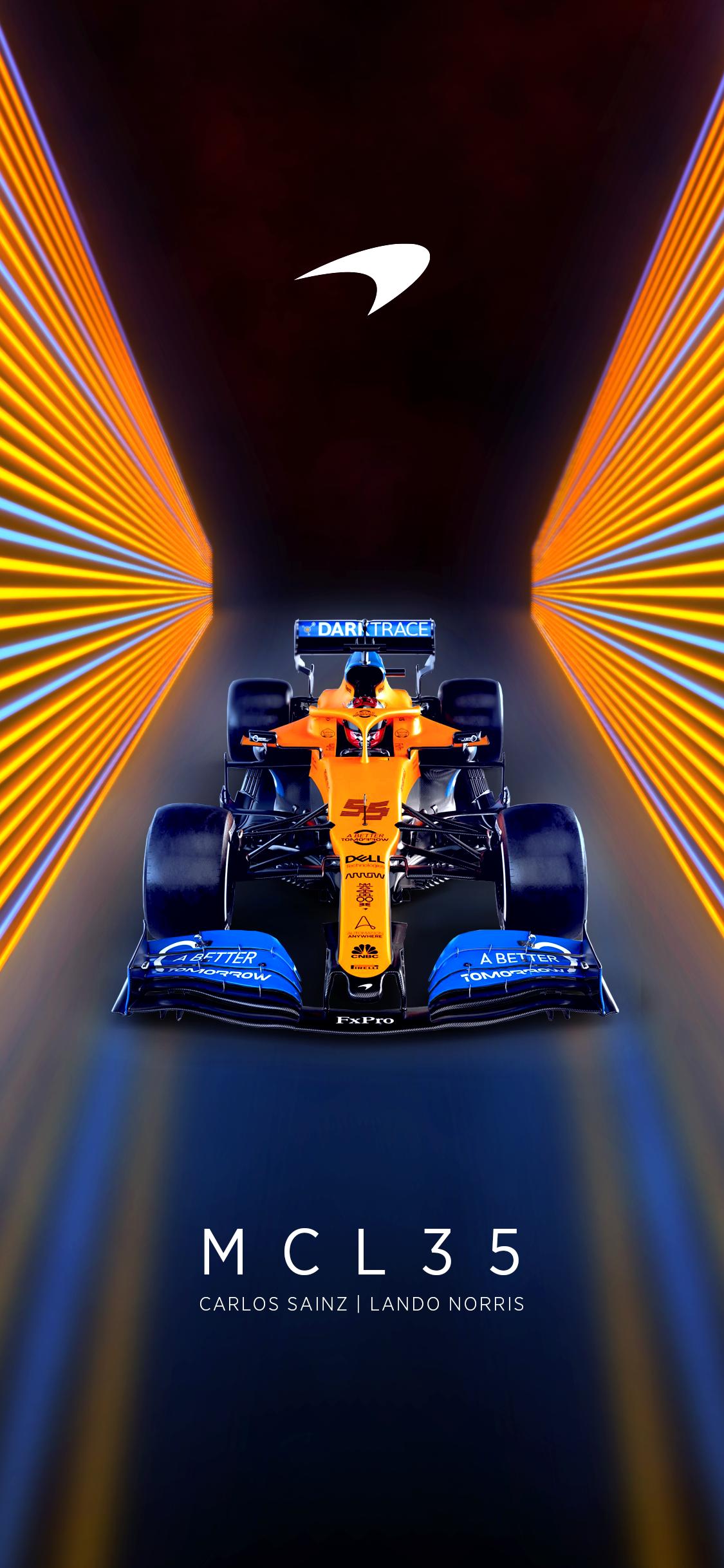 4 days left till the new season I made an updated McLaren phone 1125x2436