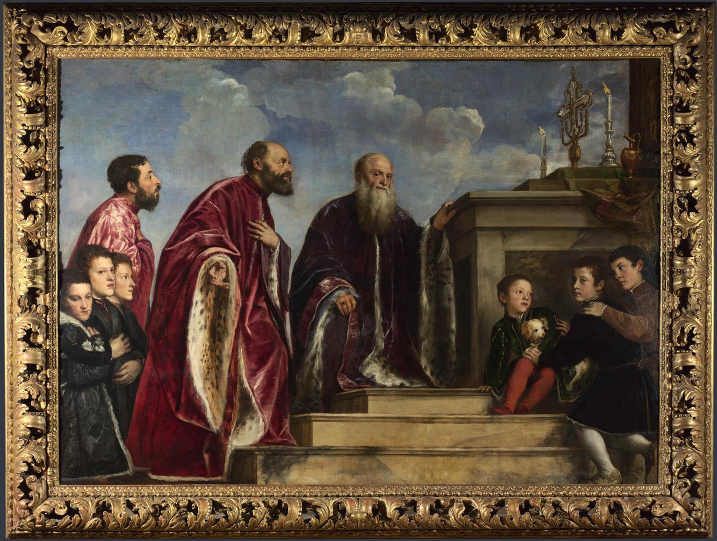 Vendramin Family   A italian renaissance titian art wallpaper picture 1432x1080