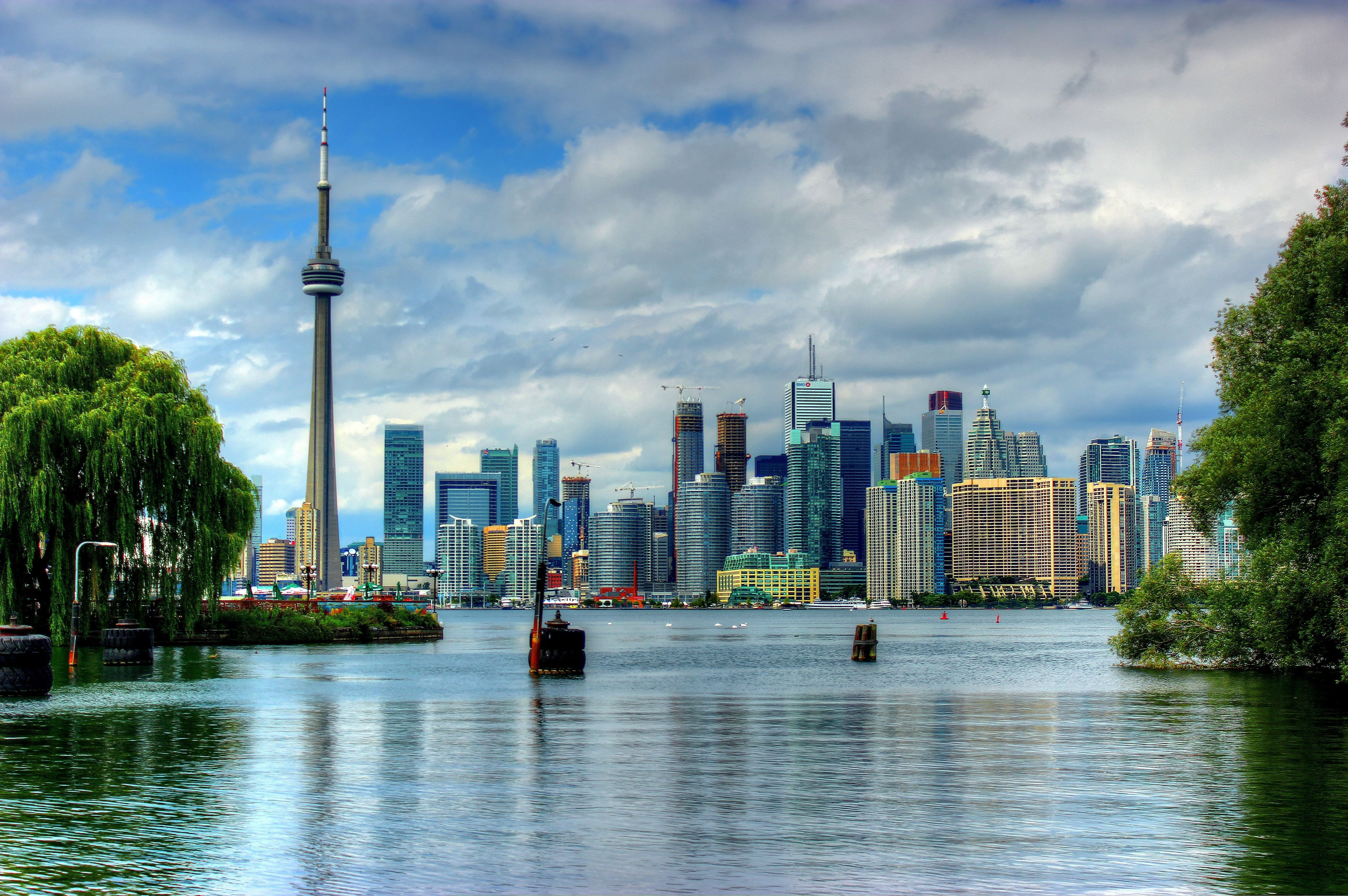 Wallpaper Toronto Ontario Skyline Canada 1920 1200 Picture 5179x3444