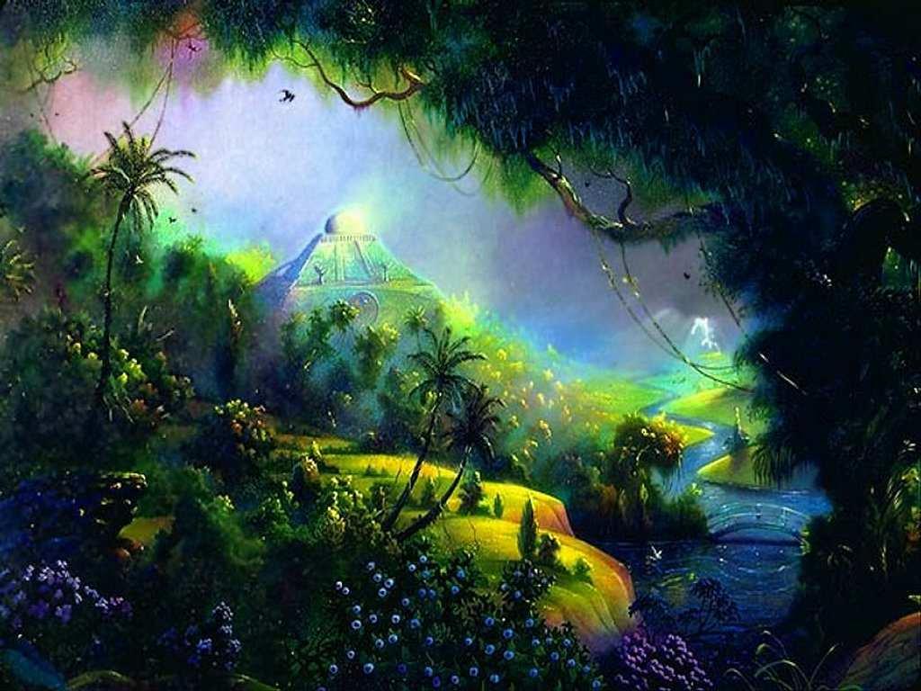 Fantasy Wallpaper paradise 1024x768